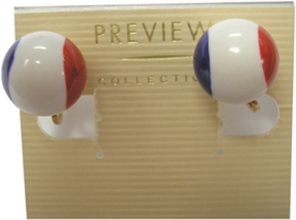 Patriotic Clip-on Ball Earrings