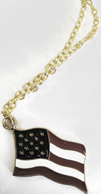 Patriotic American Flag Necklace